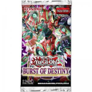 FÖRHANDSVISNING: Yu-Gi-Oh, Burst of Destiny, 1 Booster (9 Cards) (Börjar säljas när mer info finns)