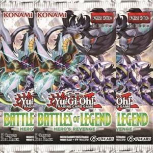 Yu-Gi-Oh, Battles of Legend: Heroes Revenge, 3 Boosters