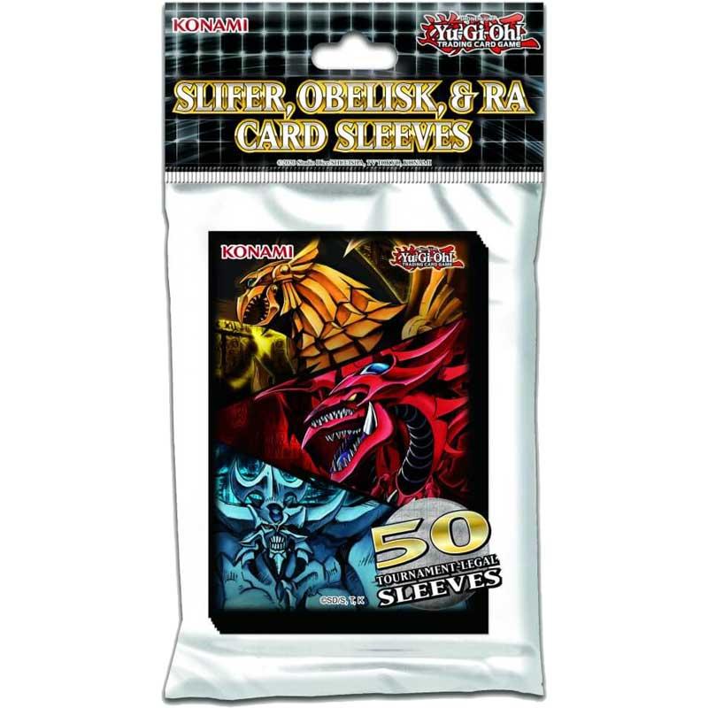 Yu-Gi-Oh, Sleeves (50), Slifer, Obelisk, & Ra