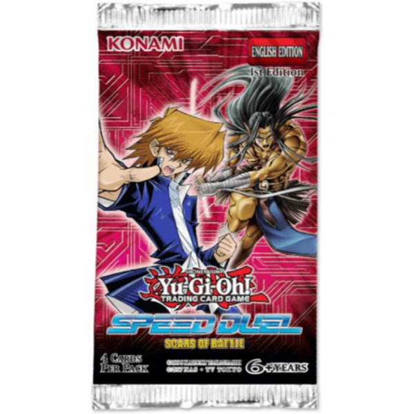 Yu-Gi-Oh, Speed Duel Scars of Battle, 1 Booster (4 cards)