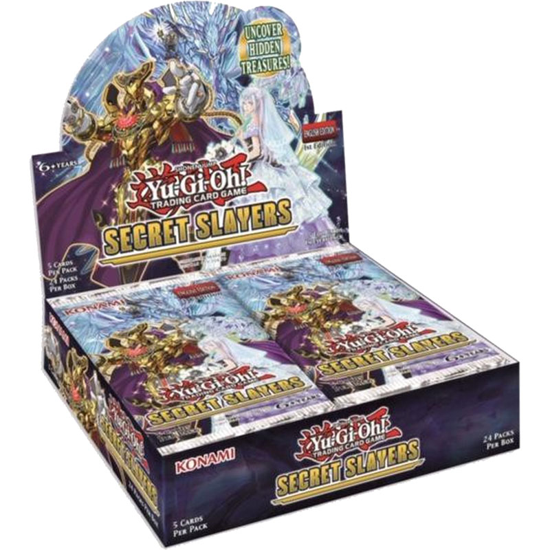 PRE-BUY: Yu-Gi-Oh, Secret Slayers, Display (24 boosters) (DELAYED: Unknown release date)