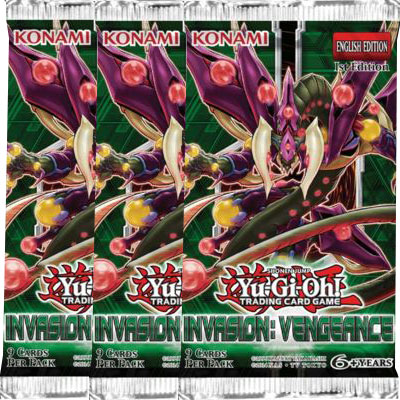 Yu-Gi-Oh, Invasion: Vengeance, 3 Boosters