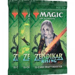 Magic, Zendikar Rising, 3 Draft Boosters