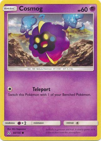 COSMOG POKEMON ULTRA PRISM CARD 60//156