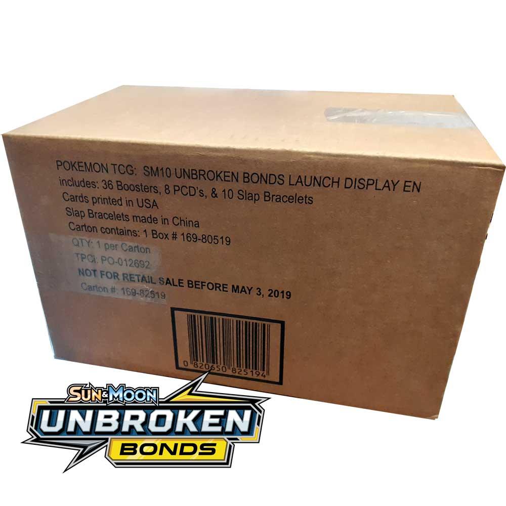 POKEMON TCG SUN /& MOON UNBROKEN BONDS BOOSTER PACK 10 CARDS PER PACK SEALED