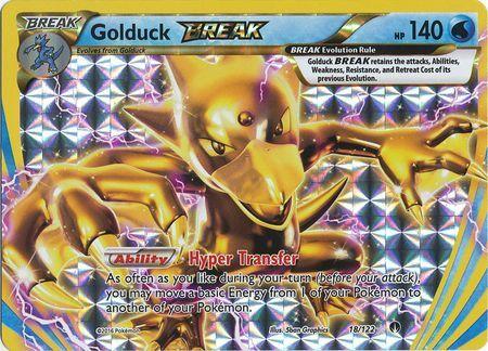 Rare Break XY: BREAKpoint Pokemon: Golduck-Break 18//122