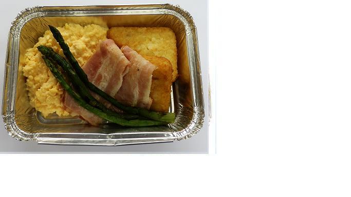 Äggröra och bacon