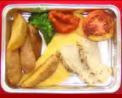 Cheese Omelette, Rosted Chickenbreast