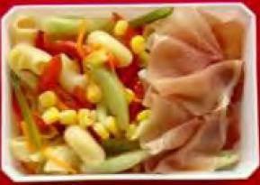 Ham & pasta sallad