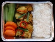 Stirfried chicken with yellow curry paste
