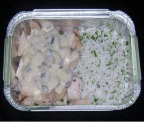 HM Chicken Dices w rice