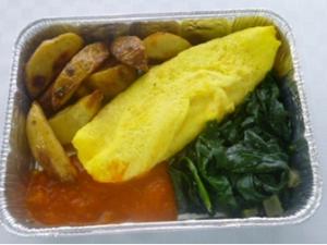 Ostfylld Omelett