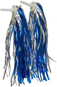 Fransar för styrände blå /silver