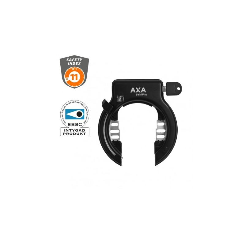 Ringlås AXA solid plus svart