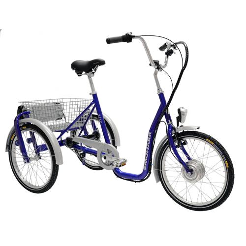 Monark 3-hjulig cykel 3-vxl Eldrift Blå