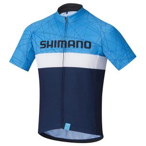 Tröja Shimano TEAM Junior SS Blå