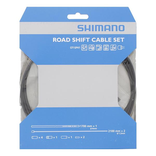 Växelvajerset Shimano Racer fram & bak svart