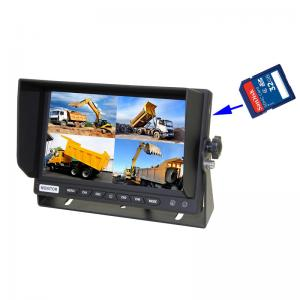 DC12V&24V 7 Inch LCD Quad Screen Colour Monitor With Built-In DVR