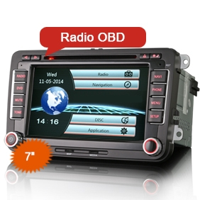 "7"" Hi Fi Car Multimedia System DVD Player for VW"