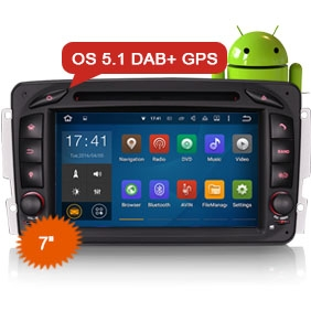 """7"""" Android 5.1 Car DVD GPS Player DAB+ for BENZ"""