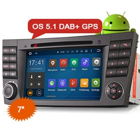 "7"" DAB+ Car Radio System Andriod 5.1 GPS for Benz CLS/E/G-Class"