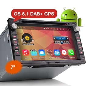 "7"" Android 5.1 OS Car Multimedia System DAB+ for VW Old Passat"