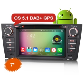 "7"" Android 5.1 Car Multimedia System DVD GPS DAB+ for BMW"
