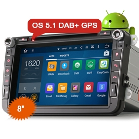 "8"" New Android 5.1 OS Car DVD GPS 3G WiFi DAB+"