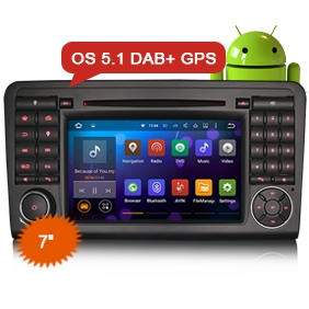 "7"" DAB+ Car Radio 2 Din Android 5.1 GPS SAT NAV for Benz ML-Class"