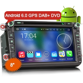 "8"" New Android 6.0 Marshmallow OS Car DVD GPS 3G WiFi DAB+"