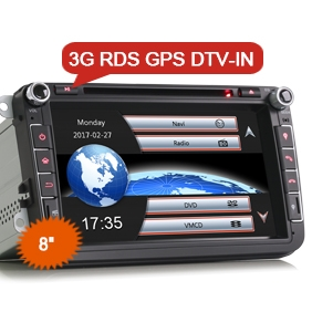 "8"" Car DVD GPS Sat Radio 3G Bluetooth for VW"