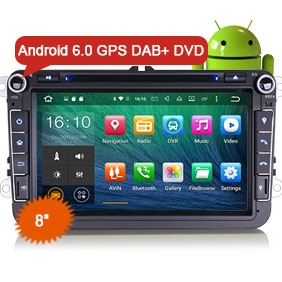 "8"" Android 6.0 Marshmallow OS Car DVD GPS 3G WiFi DAB+"