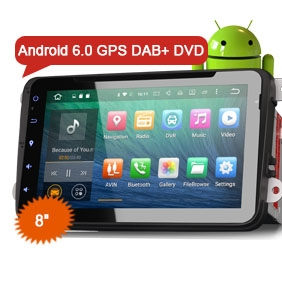 """8"""" Android 6.0 Marshmallow OS Car DVD GPS 3G WiFi DAB+"""