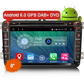 "8"" New Android 6.0 Marshmallow OS Car Audio GPS 3G DAB+ WiFi"