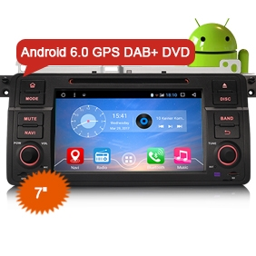 "7"" Android 6.0 Marshmallow OS Car Multimedia GPS DVD DAB+ for BMW E46"