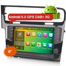 "View Larger Image Car GPS DVD Player Erisin ES5917V 9"" Android 6.0 Radio 3G DVR DAB+ for VW Golf 7"