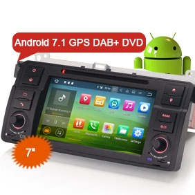 "7"" Android 7.1 Nougat OS Car DVD GPS DAB+ for BMW E46 M3 Rover 75 MG ZT"