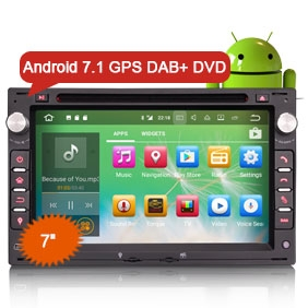 """7"""" New Android 7.1.2 Nougat OS Car DVD GPS 3G WiFi DAB+ for VW"""