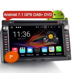 "7"" New Android 7.1 Nougat OS Car DVD GPS DVR System DAB+"
