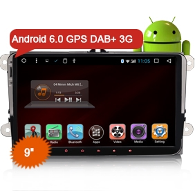 "9"" New Android 6.0 Marshmallow OS Car GPS 3G DAB+ WiFi NO DVD Function"