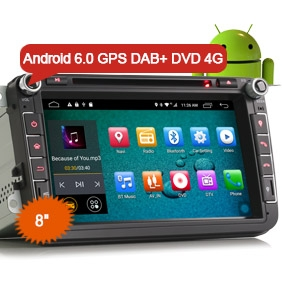 "8"" New Android 6.0 Marshmallow OS Car Audio GPS DAB+ WiFi 3G 4G DVD Player"