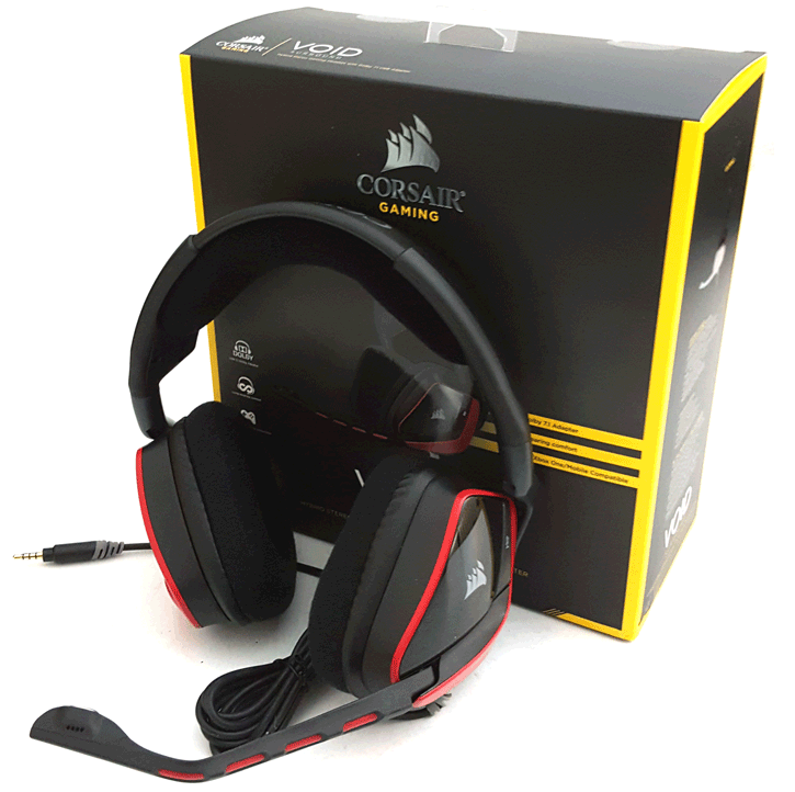 Corsair Gaming VOID Surround Hybrid Stereo Gaming Headset with Dolby 7.1 Red