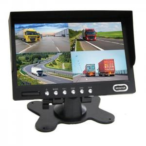 7 Inch color LCD monitor with built-in quad image