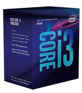 Intel Core i3 8100 3.6 GHz, 6MB, Socket 1151