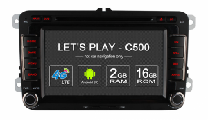 Android 6.0 Quad Core Car GPS for VW SERIES support 4G LTE rear camera TPMS DAB DVR