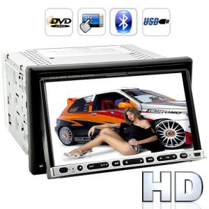 "2-DIN DVD vSpelare med 7"" HD Touch Screen"
