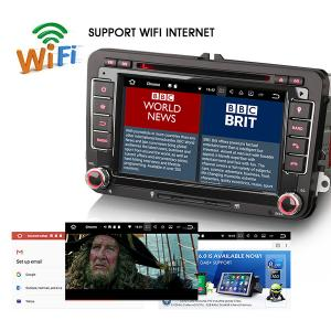 "Erisin ES3748V 7"" Auto Radio Android7.1 Car DVD GPS Navigation for VW Golf Tiguan Jetta Seat Eos Pol"
