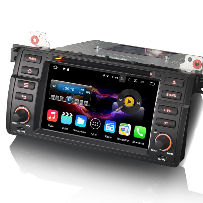 car stereo dvd erisin es4746b 7 android 7 1 dab dvr gps