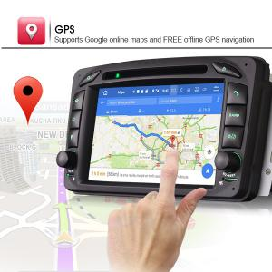 "7"" Android 7.1 Nougat OS Car GPS Naviagtion DAB+ for Benz C-Class W203"
