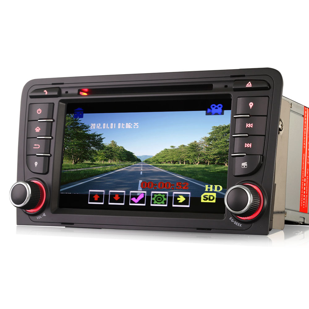 "ES7147A 7"" 2 Din Car DVD GPS Navigation System for AUDI A3 S3 RS3 RNSE-PU"